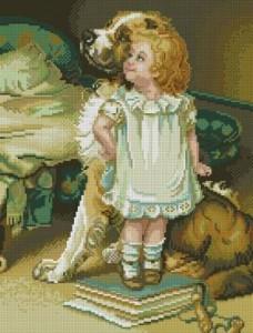 Схема Девочка с собакой