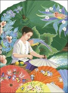 Схема Тайский зонтик / Thai Parasol Painting