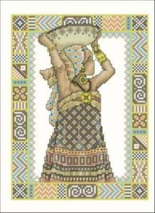 Схема Африканская девушка