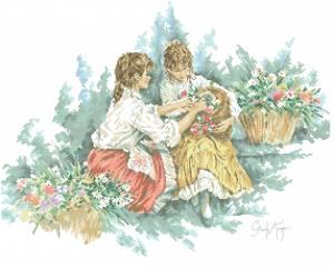 Схема Две девочки