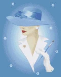 Схема Леди в голубом