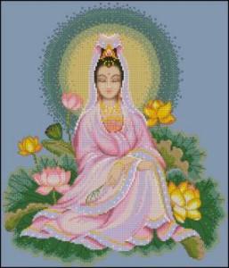 Схема Китайская богиня милосердия / Quan Yin — Chinese Goddess of Mercy