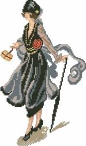 Схема Дама с тростью