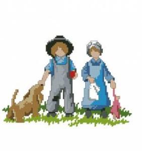 Схема Весёлые друзья / Amish life. Friends and fun