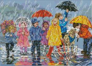 Схема Дети под дождем