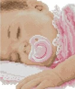 Схема Спящая девочка