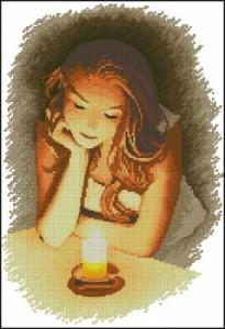 Схема Девушка и свеча