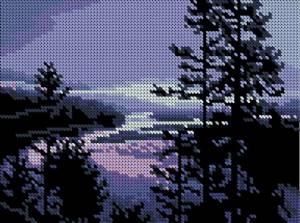 Схема Закат на озере