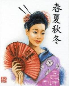Схема Китайская девушка
