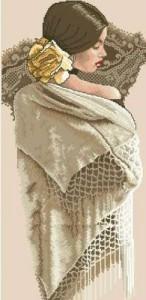 Схема Белая шаль
