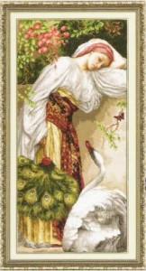 Схема Девушка с лебедем