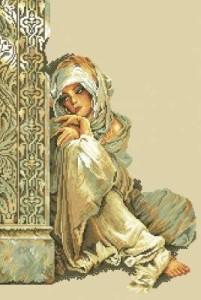 Схема Арабская девушка