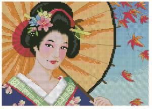 Схема Красивая гейша