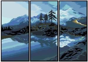 Схема Горное озеро (триптих)