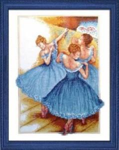 Схема Танцовщицы в голубом