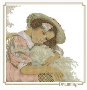 Схема Девочка с кошкой