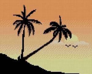 Схема Пальмы на закате