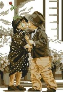 Схема Детское свидание (ретро)