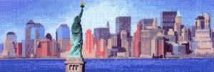 Схема Нью-Йорк на горизонте / New York Skyline
