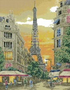 Схема Вечерний Париж