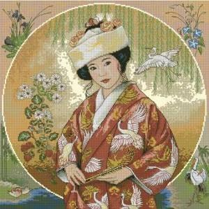 Вышивка Японская девушка (Dimensions) .
