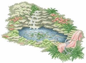 Схема Скамейка у пруда