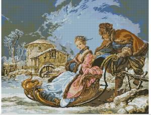 Схема Волшебная зима (Катание на санях)