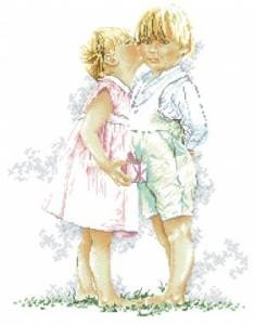 Схема Поцелуй (дети)