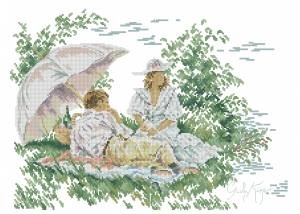 Схема Романтический <i>схема вышивки Розы для пикника</i> пикник / Romantic Picnic