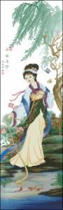Схема Гейша в красивом кимоно панель