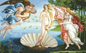Схема Рождение Венеры (Сандро Ботичелли)