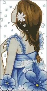 Схема Девушка в синем