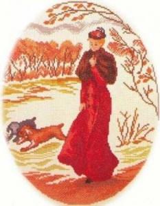 Схема Девушка на прогулке (Отоно)