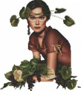 Схема Девушка защитница растений (Ева)