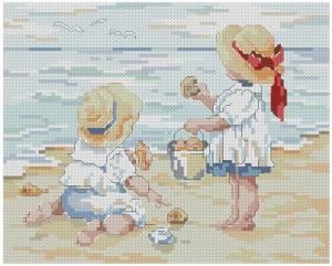 Схема На пляже / En la Playa