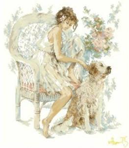 Схема Девушка и собака