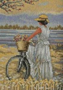 Схема Дама на велосипеде / Senora con Bicicleta 1