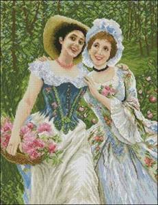 Схема Девушки в саду