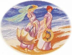 Схема Две девушки на прогулке (Верано)
