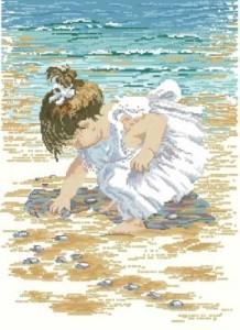 Схема Девочка у моря