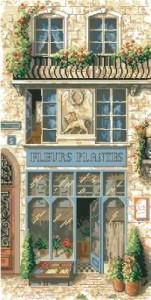 Схема Французский цветочный магазин