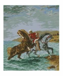 Схема Марокканские лошади / Marocanul Scotand Caii din Mare