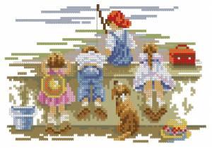 Схема Дети на рыбалке