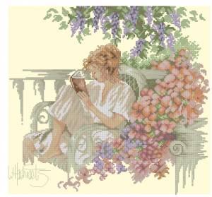 Схема Девушка с книгой