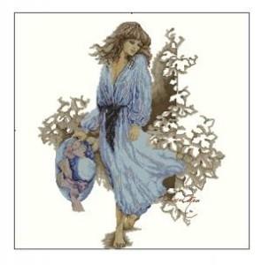 Схема Девушка в голубом