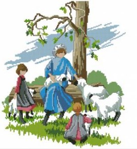 Схема Бараньи сказки / Amish life. Lamb tales