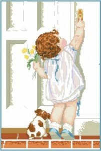 Схема Девочка звонит в дверь