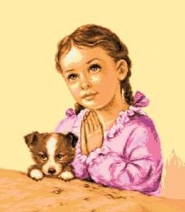 Схема Девочка молится / Fetita rugandu-se