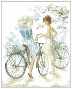 Схема Девочки с велосипедами