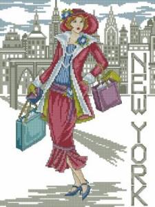 Схема Леди Нью-Йорк / New York Lady